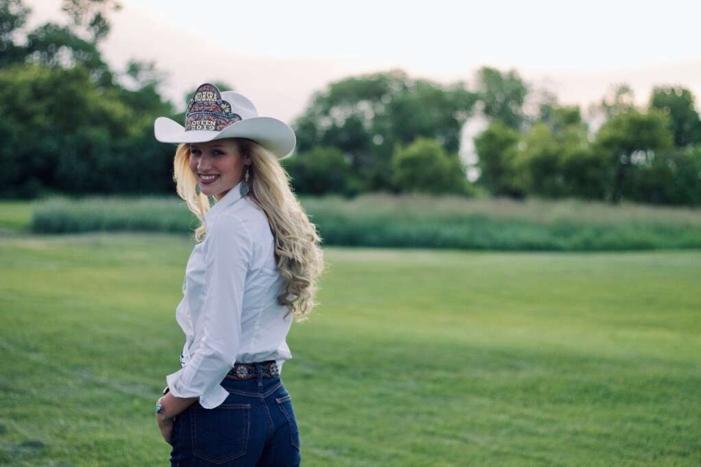 The 2019-2020 Miss North Dakota High School Rodeo queen, Aspen Hennessy, has been crowned as the 2020 Miss North Dakota Teen USA. Photo by Shelby Hennessy