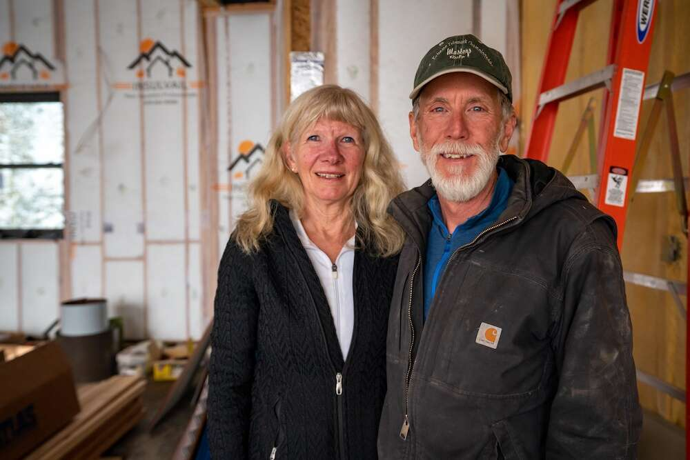 Deana and Rick Pratt stand in their garage April 27. | Photo by Grace Coomaraswamy / GLC Productions