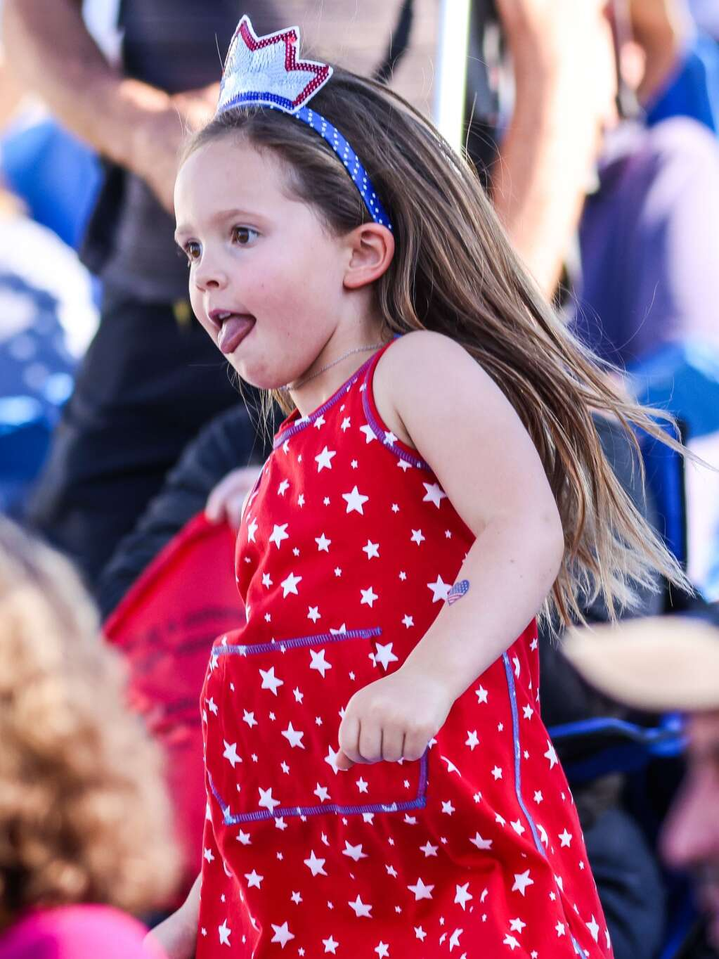 People dance and listen as Miss Mojo, a funk band from New Orleans, performs a free concert on Sunday, July 4, 2021, on Fanny Hill in Snowmass Village. Photo by Austin Colbert/The Aspen Times.
