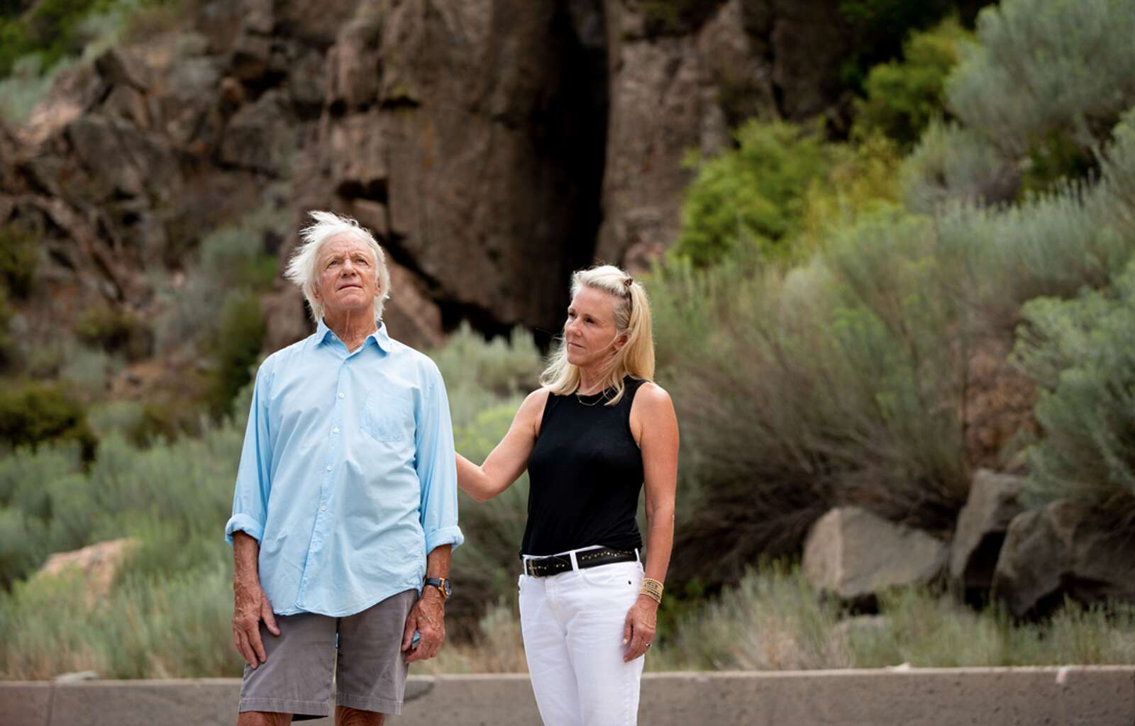 Art and Allison Daily recently participated as subjects in a project called Portraits of Grief, a collaboration between the nonprofit Pathfinders and Aspen photographer Michele Cardamone. Here, the two are pictured in Glenwood Canyon, where Art's wife and two sons died from a rock fall in February 1995. Details on the project will be forthcoming. (Michele Cardamone/Special to The Aspen Times).