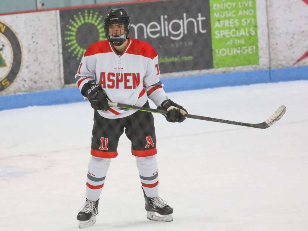 Aspen High School hockey hosts Steamboat Springs on Friday, Feb. 12, 2021, at Lewis Ice Arena. Photo by Austin Colbert/The Aspen Times.