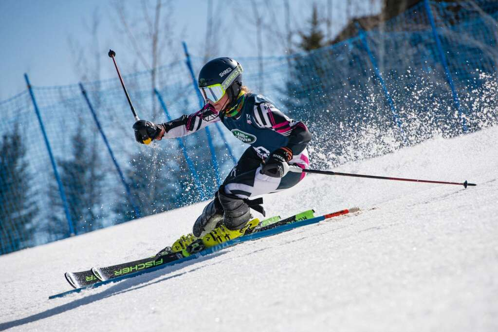 American alpine skier Madison Kaiserman competes in the Women's Alpine Combined FIS event at Aspen Highlands on Wednesday, April 14, 2021. (Kelsey Brunner/The Aspen Times)