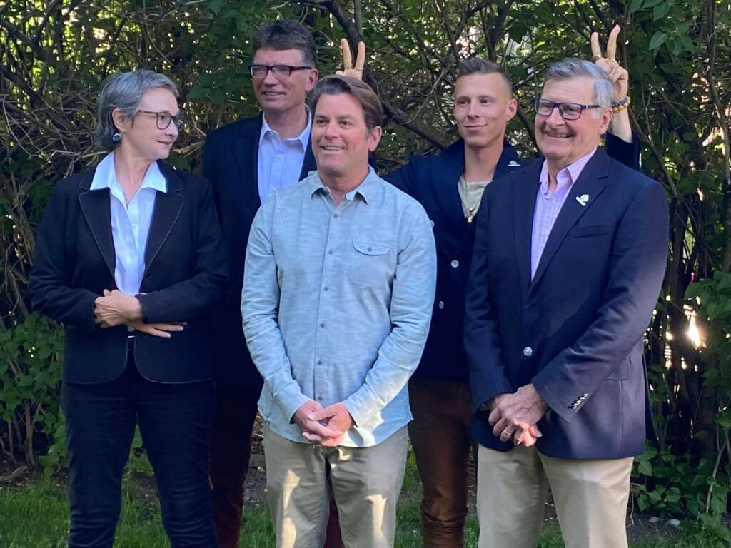 Aspen City Council members pose for a photo in Conner Memorial Park in June 2021.