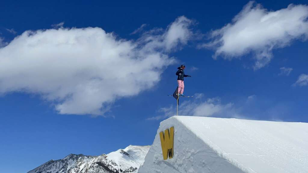 Team Summit skier Alex Thisted competes on the Woodward Copper slopestyle course at Tuesday's Revolution Tour event at Copper Mountain Resort. | Photo by Teddy Goggin