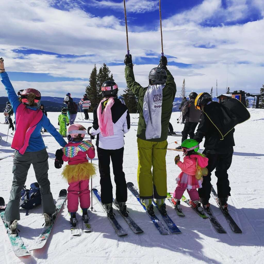 The Lamb family from left, Jamie, Ashtyn, Becky, Scott Alperin, Andee, and David, competed in the STARS Mini Mountain Challenge last weekend.
