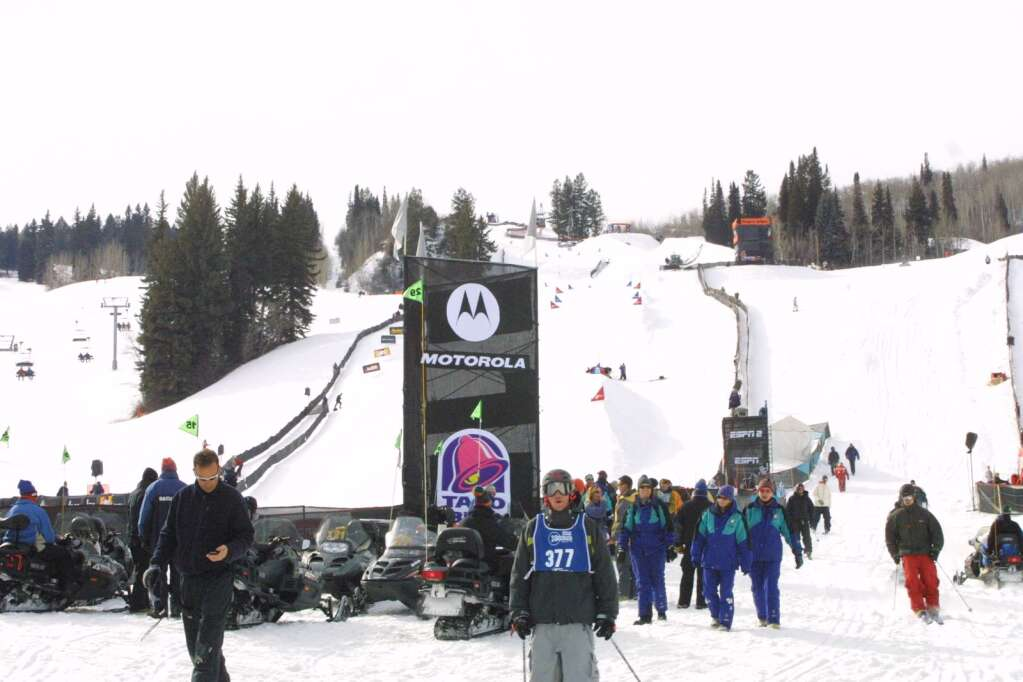 Photo from Winter X Games VI, the first hosted by Aspen. Photo courtesy of ESPN.