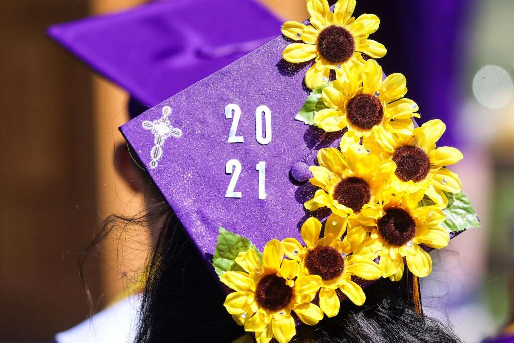Photos from the Basalt High School graduation ceremony on Saturday, May 22, 2021, on the BHS football field. Photo by Austin Colbert/The Aspen Times.