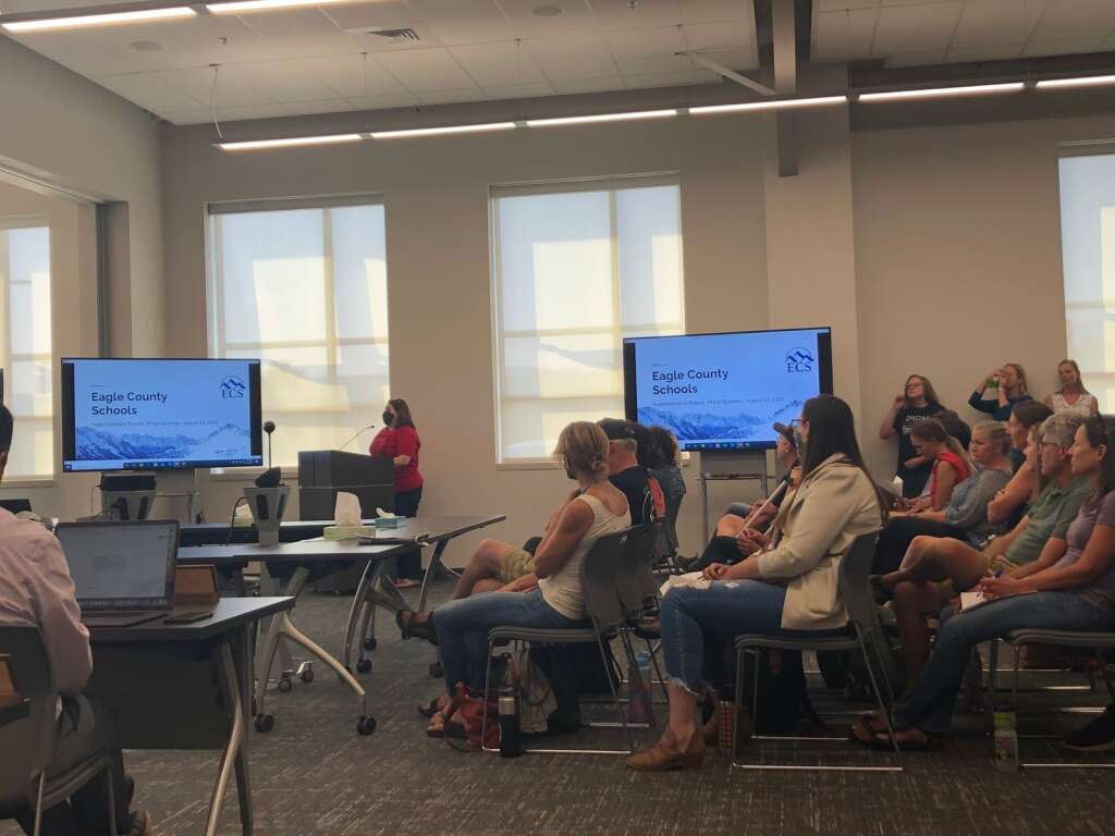 Karen Kolibaba, a fifth grade teacher and president of the Eagle County Education Association, expressed that teachers are experiencing mixed emotions about returning to school without safety protocols.     Ali Longwell/alongwell@vaildaily.com