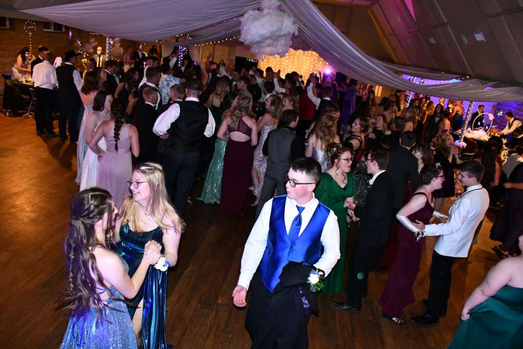 A view of the dance floor at the Moffat County Fairgrounds pavilion. (Andy Bockelman / For Craig Press)