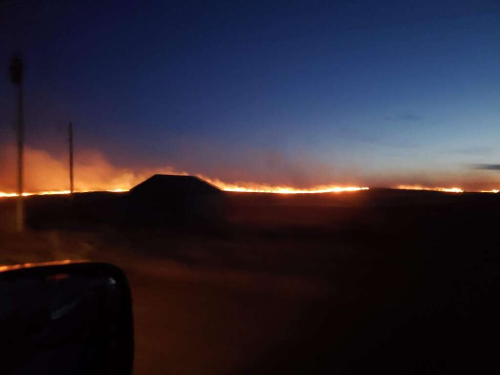 Extreme drought conditions and high winds have created a perfect environment for prairie fires. | Photo by Ida Sander