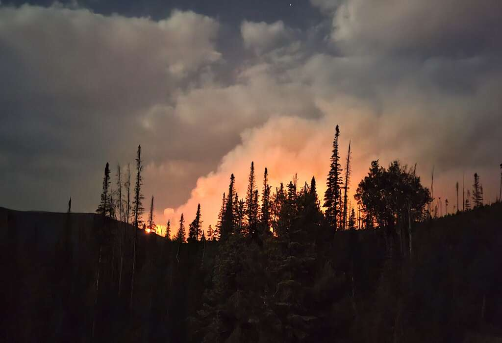 The Muddy Slide Fire was Very active Tuesday night into Wednesday Morning. This is from near Lynx Pass to the southeast of the fire. | Dylan Anderson/Steamboat Pilot & Today