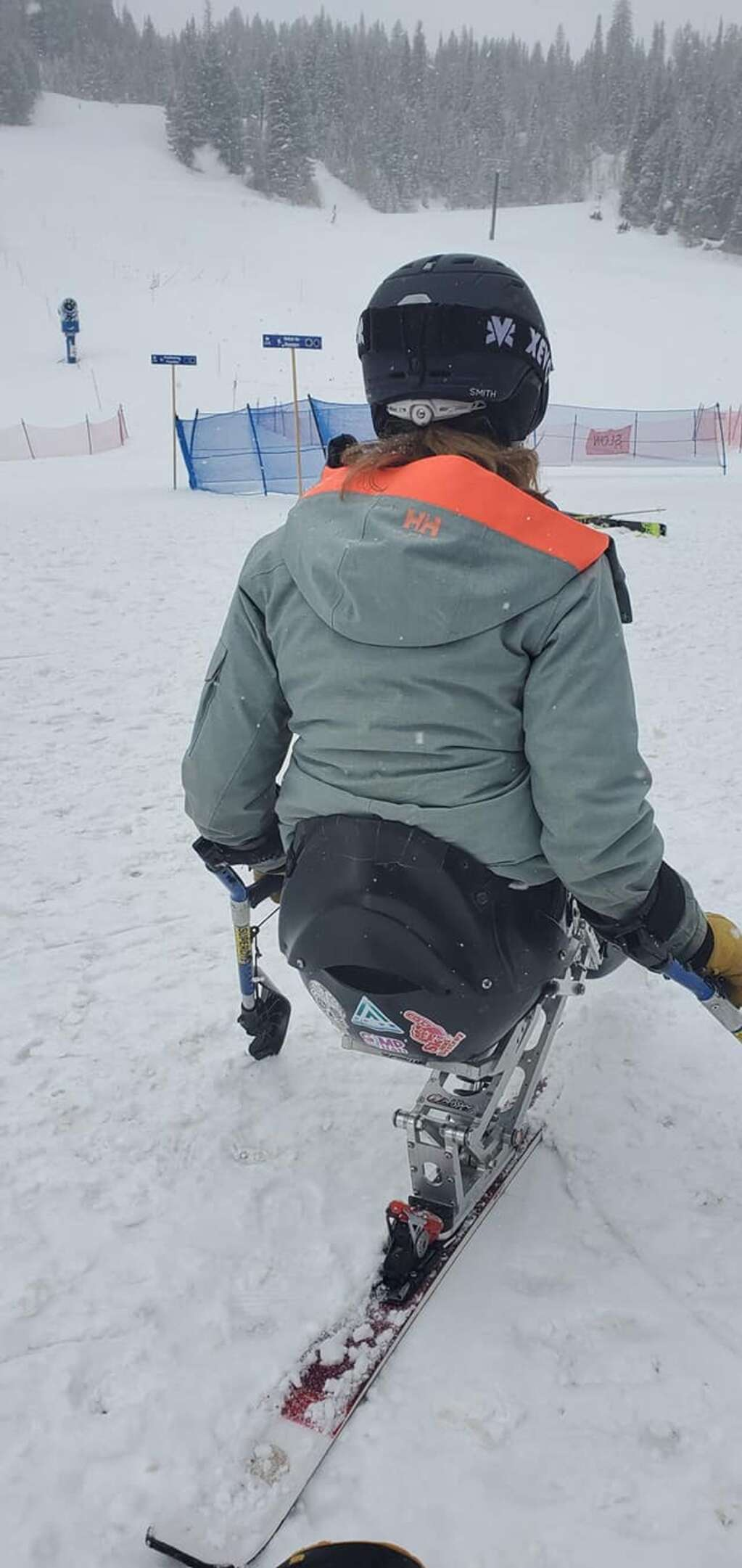 Urich described the missing skis as one orange and one black and silver with Access Adventures stickers and Gimp Squad stickers on them. | Courtesy Mark Urich
