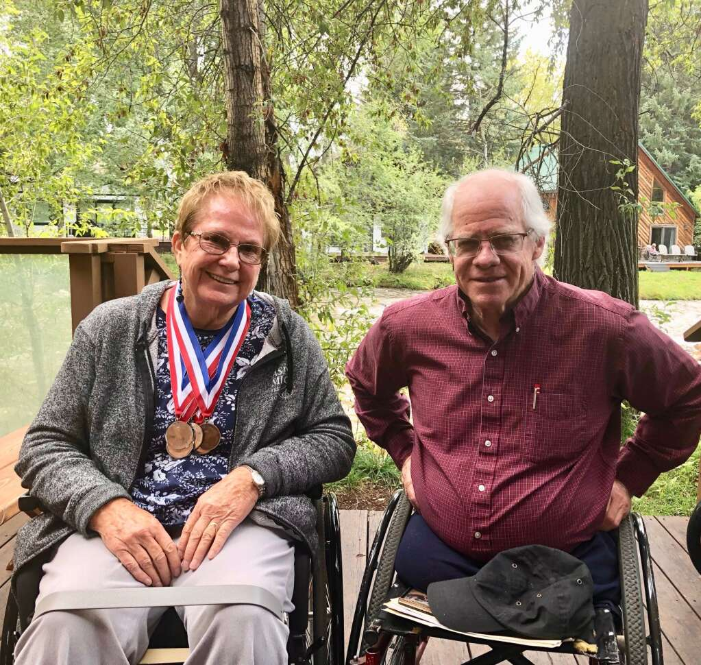 Judy (Waterman) Huston of Glenwood Springs and Jim Finch of Basalt were athletes in the Paralympics. Huston competed in 1964 and Finch in 1980 and again in 1998. | Scott Condon/The Aspen Times