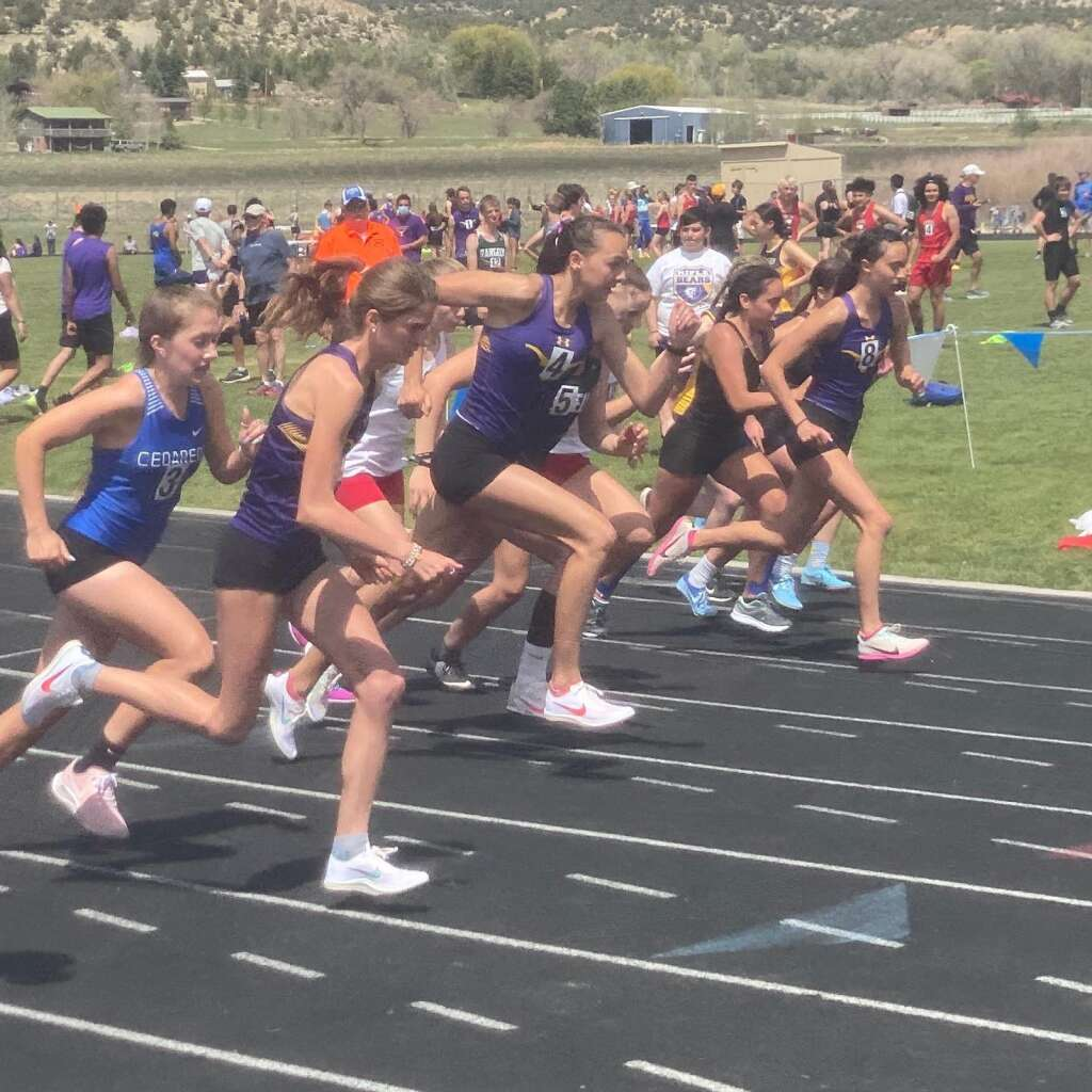 The Basalt High School track and field team competed at the Rifle Invitational on Friday, May 7, 2021. Kristen Maley/courtesy photo.