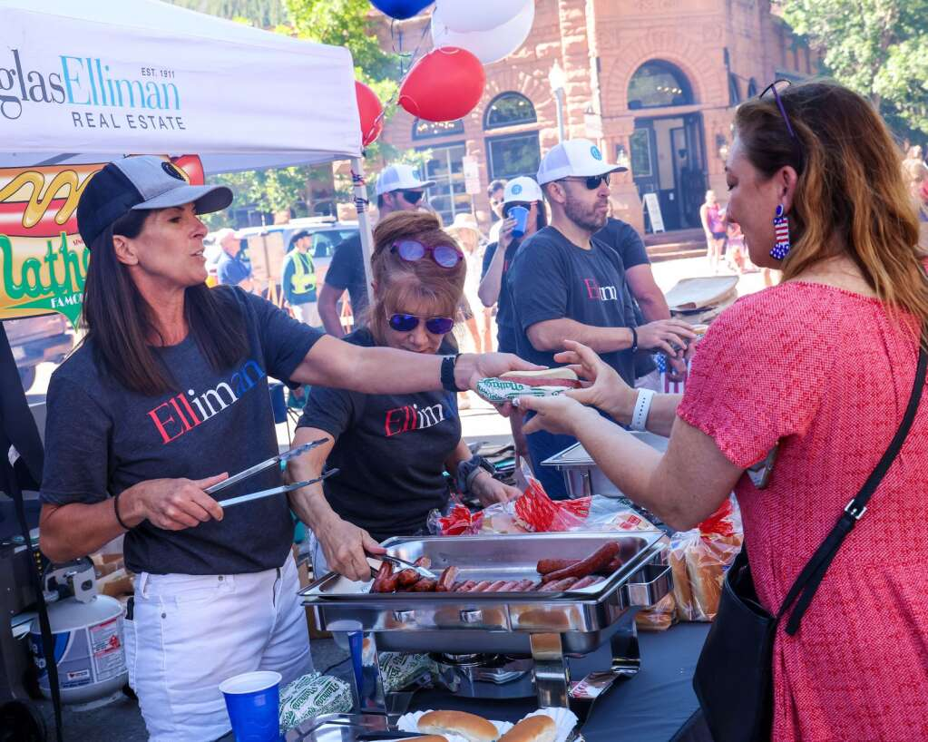 Photo from the Fourth of July celebration in Aspen on Sunday, July 4, 2021, in downtown Aspen. Photo by Austin Colbert/The Aspen Times.