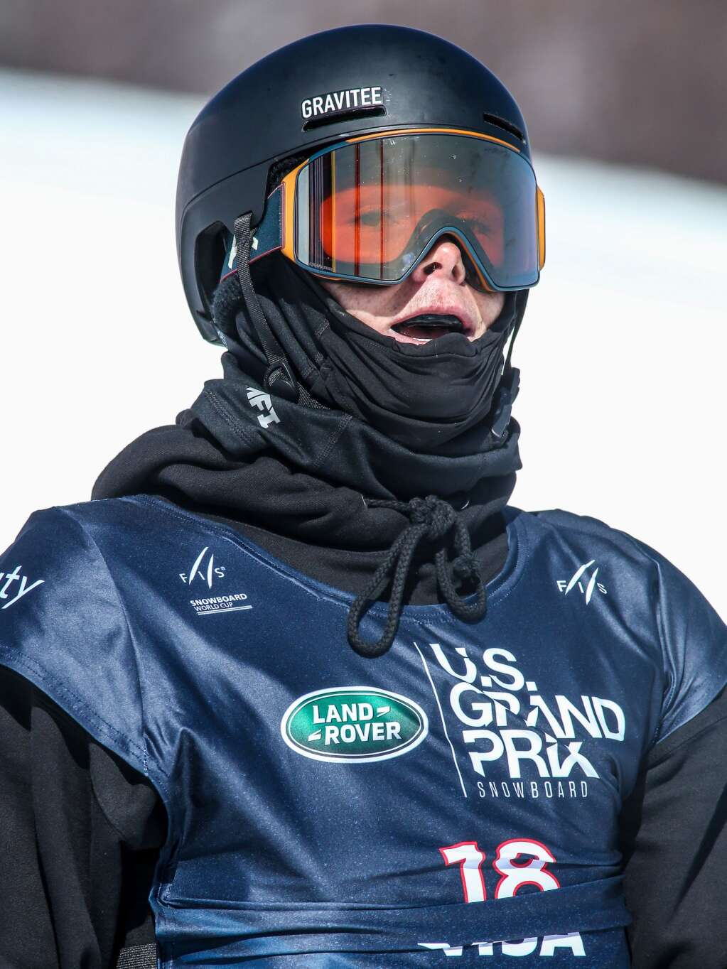 American Fynn Bullock-Womble reaches the bottom of the course during the men's snowboard slopestyle qualifier of the U.S. Grand Prix and World Cup on Friday, March 19, 2021, at Buttermilk Ski Area in Aspen. Photo by Austin Colbert/The Aspen Times.