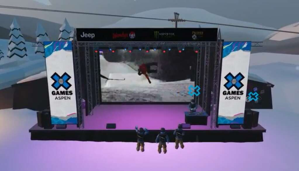 The X Fest at X Games Aspen is going virtual for 2021, with an immersive and interactive digital version of the Buttermilk base area.  (Courtesy ESPN)