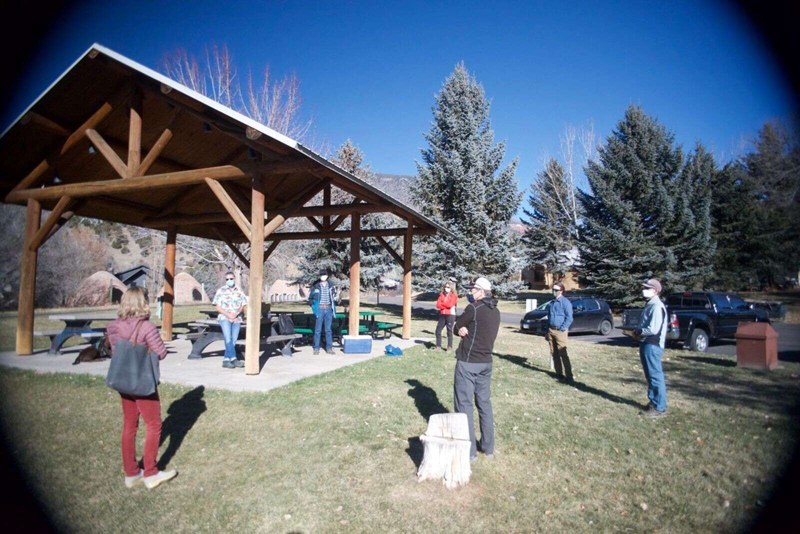 Roaring Fork Outdoor Volunteers celebrated its 25th anniversary with a socially distanced gathering in Arbaney Park on Dec. 5.| Courtesy photo