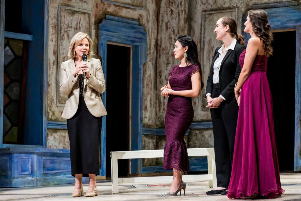 Renée Fleming with opera students in Aspen in 2019.