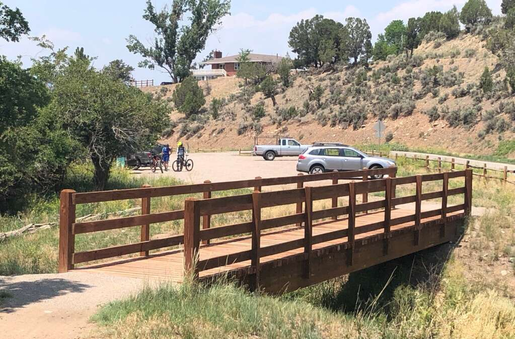 The Tybar Ranch previously sold property to Pitkin County that allowed development of the parking lot and trailhead for the Prince Creek trail network. | Scott Condon/The Aspen Times