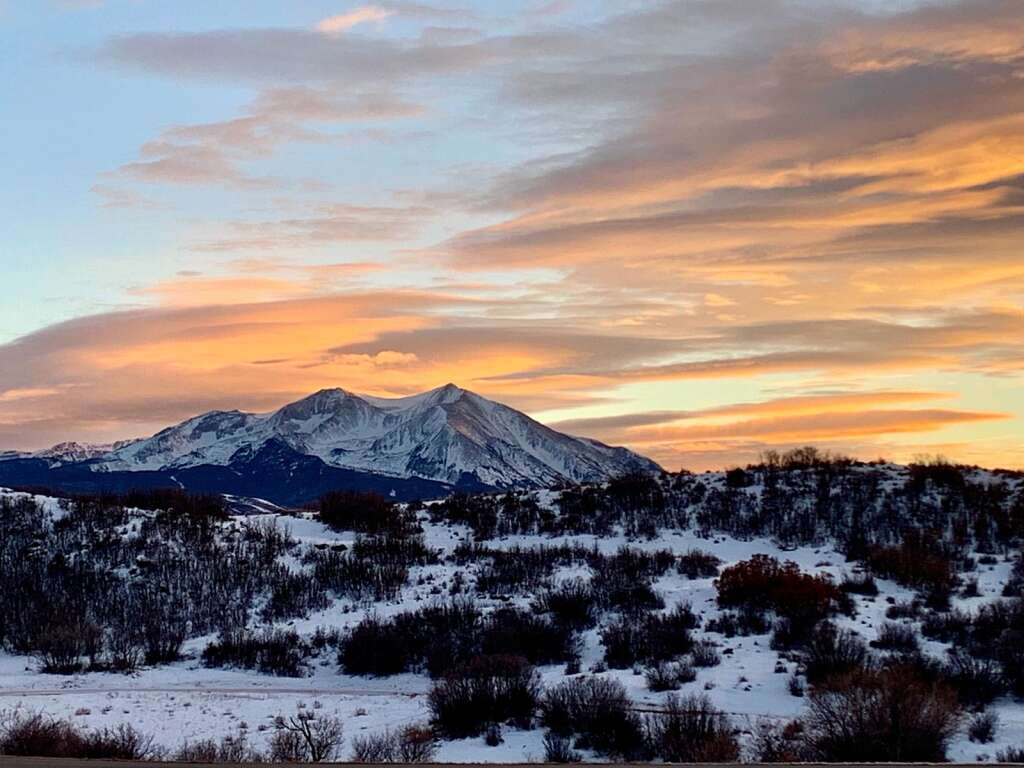 Mount Sopris, the inspirational view of which led to Panorama Kitchen's name.