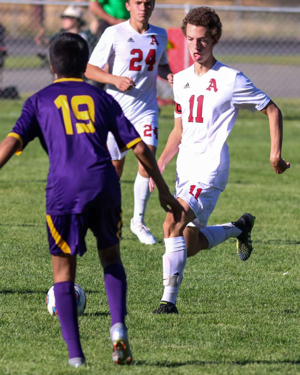 Aspen High School boys soccer player Ansel Whitley controls the ball against Basalt on Wednesday, Sept. 15, 2021, on the BHS field. | Photo by Austin Colbert/The Aspen Times