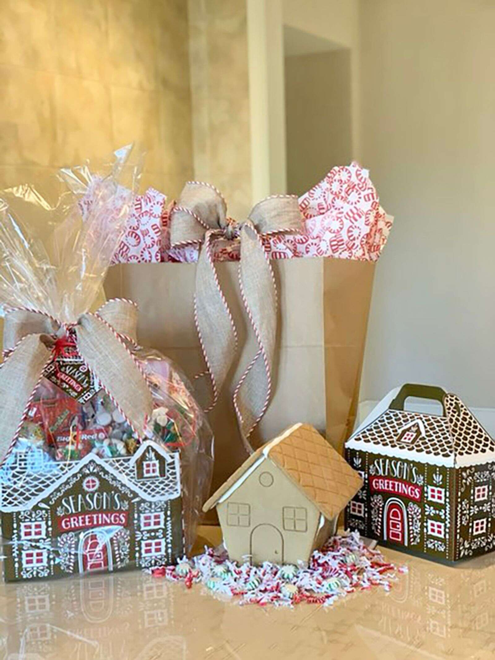 The Buddy Program's creative gingerbread house kits. Courtesy photo.