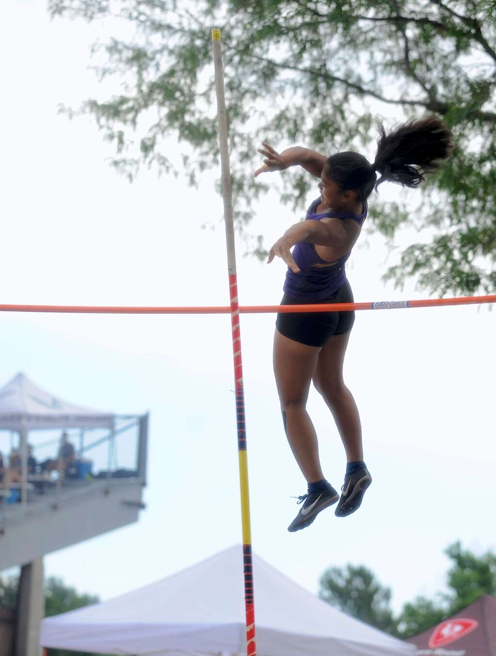 Basalt High School senior Katie Bohannan competes in the Class 3A girls' pole vault on Friday, June 25, 2021, at the state championship meet in Lakewood. Photo by Shelby Reardon/Steamboat Pilot & Today.