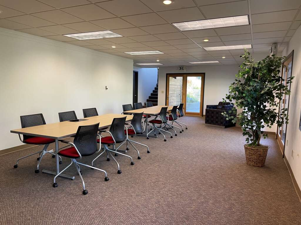 Located in the basement of The Mountain Space is a larger conference room that can be rented by members. The new coworking space in Dillon just opened in late June. | Photo by Jenna deJong