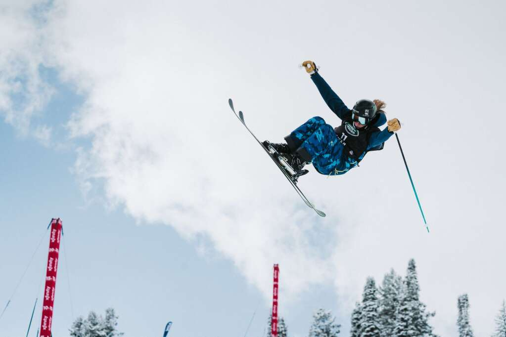 Hanna Faulhaber airs out of the half pipe during the women's freeski qualifications during the FIS World Championships at Buttermilk in Aspen on Wednesday, March 10, 2021. Faulhaber finished fifth and will compete in the finals on Friday. (Tamara Susa/Aspen Snowmass)