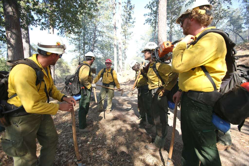 Tahoe Helitack crew 514 was returning to base at White Cloud from the Sunrise Fire in Bangor, when they saw the fire and were some of the first firefighters on scene near Lake Wildwood June 29. | Photo: Elias Funez