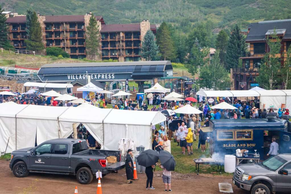 Photo from Heritage Fire on Saturday, July 31, 2021, in Snowmass Base Village. Photo by Austin Colbert/The Aspen Times.