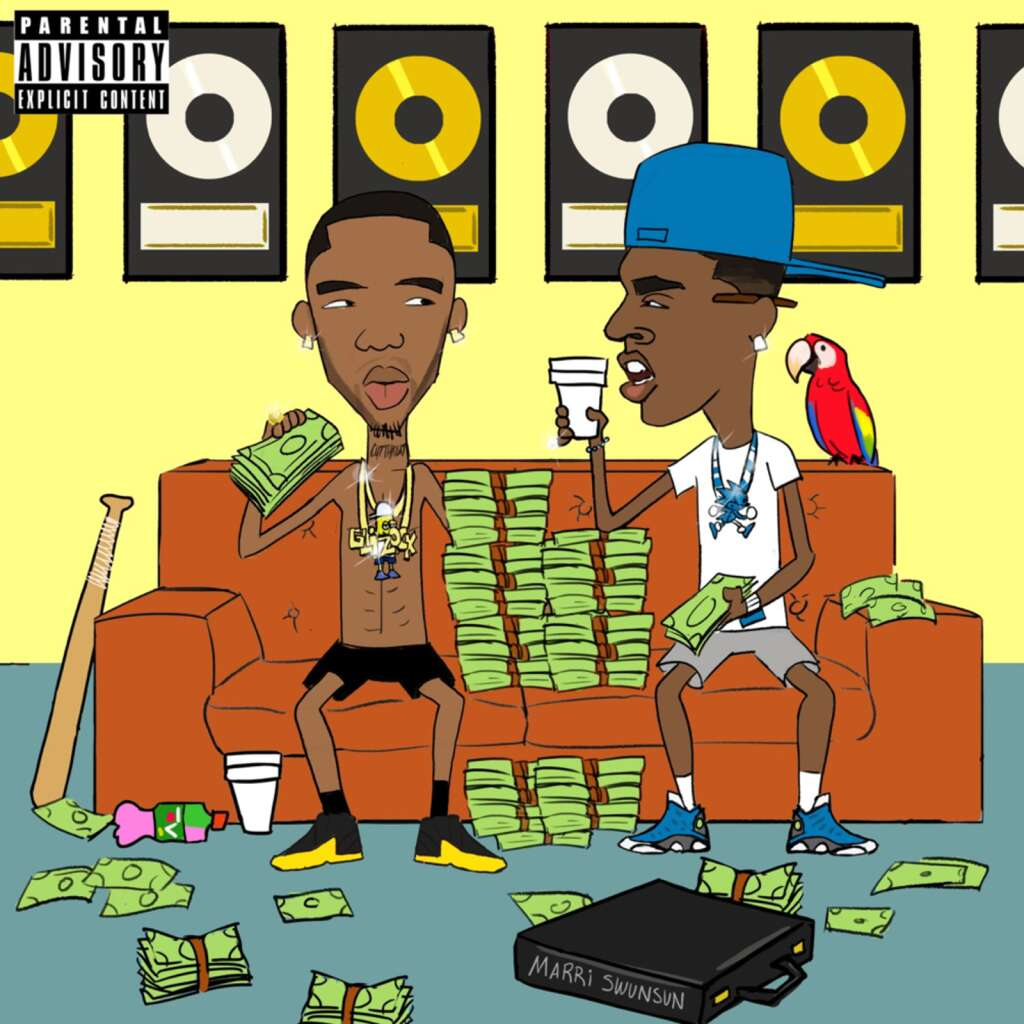 """Cover art for Young Dolph and Key Glock's forthcoming album """"Dum and Dummer 2."""""""