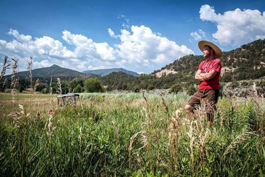 Grower Michael Long at Sustanable Settings in 2018. Aspen Times file