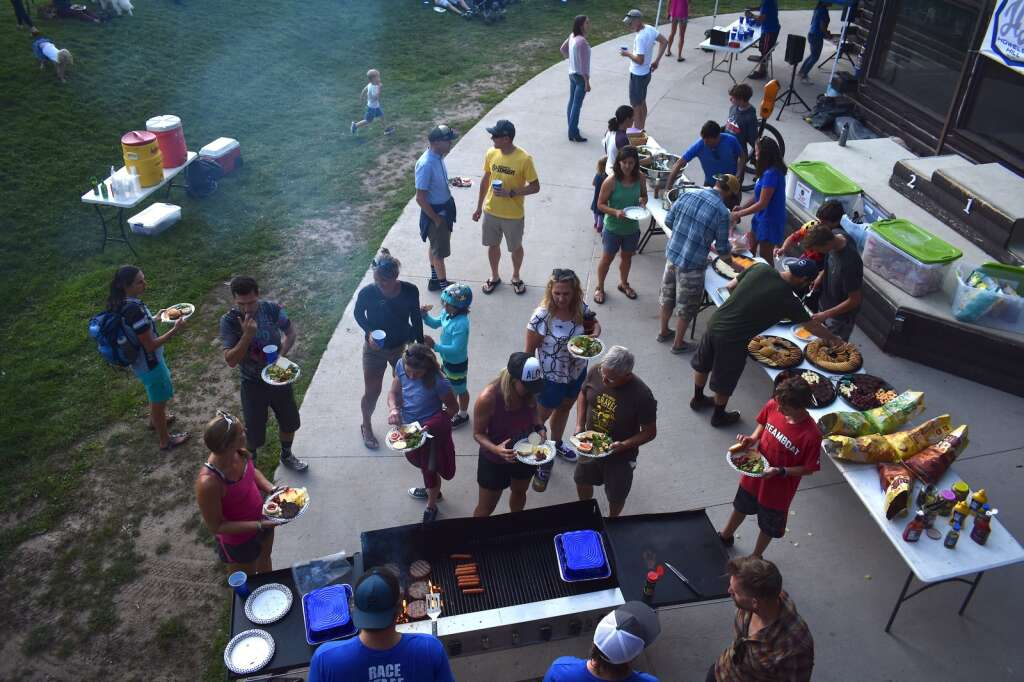 Mountain bikers and community members are treated to a barbecue at the base of Howelsen Hill to conclude the 2019 Town Challenge series.