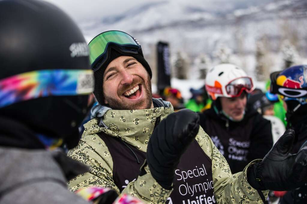 Former athlete and current X Games host Jack Mitrani laughs at a past event at Buttermilk. Photo courtesy of ESPN.