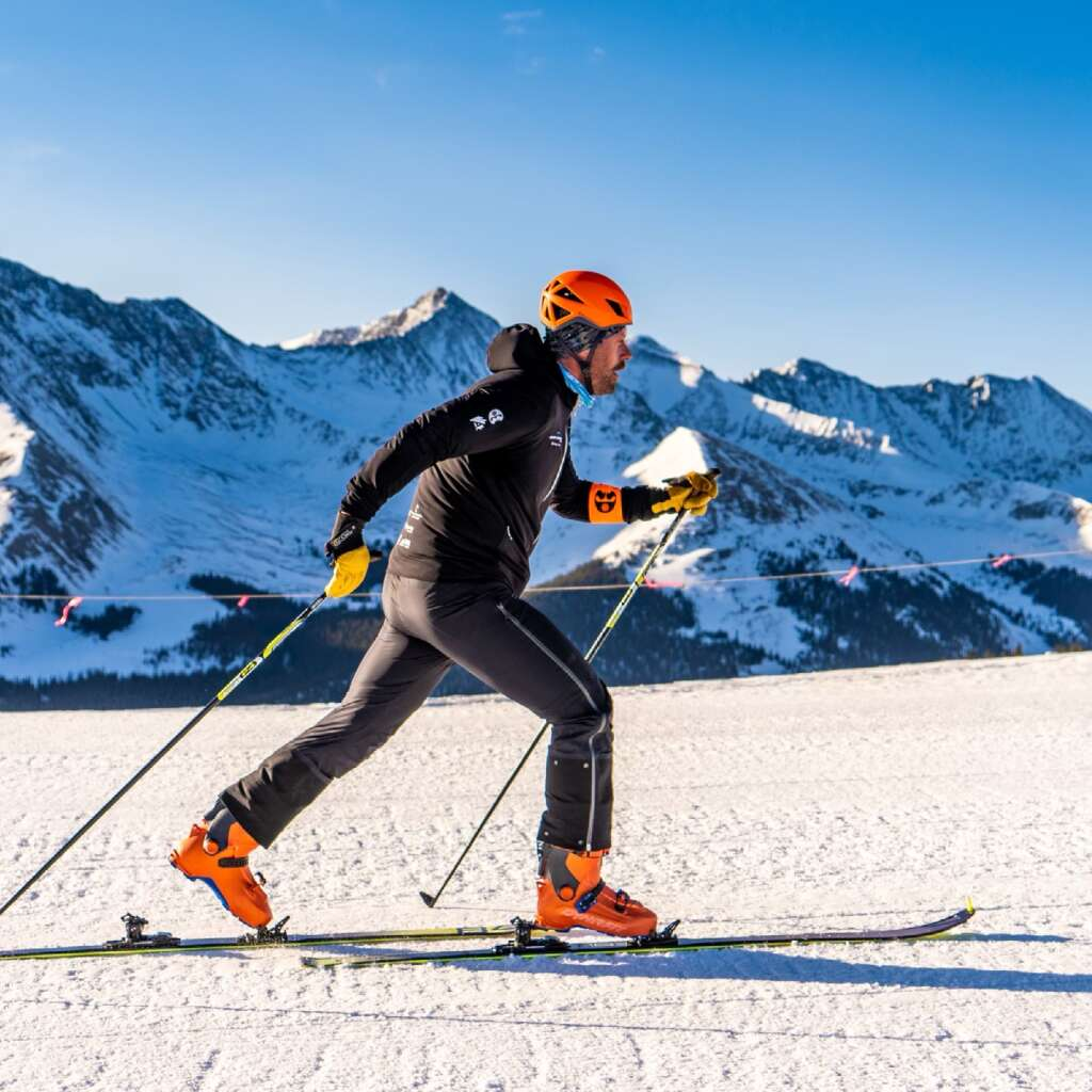 Copper Mountain Resort general manager Dustin Lyman races during Copper Mountain Resort's first Uphill Race Series this winter. | Photo from Dustin Lyman