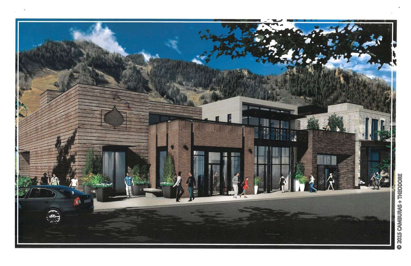 A rendering of what the new building will look like at 517 E. Hopkins Ave.