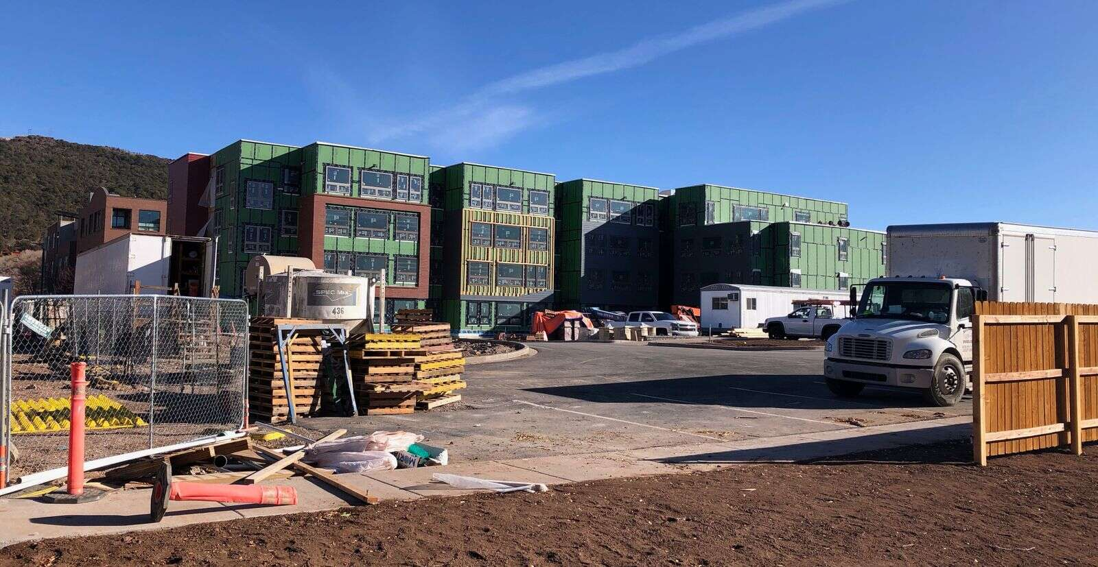 Aspen Skiing Co.'s workforce housing project is taking shape in Willits. It will be completed in 2021. (Scott Condon/The Aspen Times)