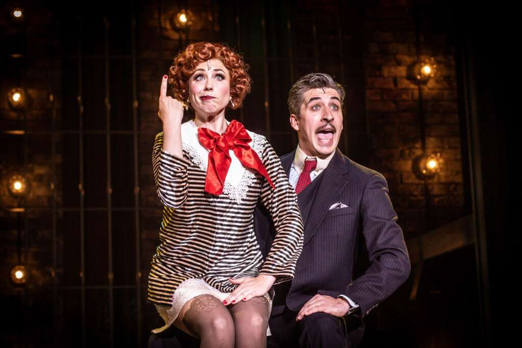 """Nathan Cockroft as Billy Flynn and Julie Kavanagh as Roxie Hart in Theatre Aspen's """"Chicago."""" Timothy Bates Photography"""