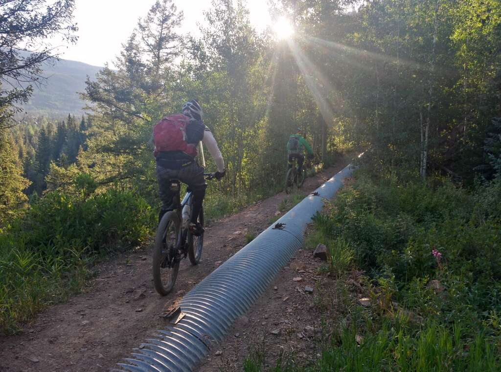A mountain biker races in a previous edition of The Mountain's Revenge 24-hour mountain bike race, a competition to see who can ride the most high-alpine backcountry loops near Montezuma and the Continental Divide. | Photo from Adam Shaw