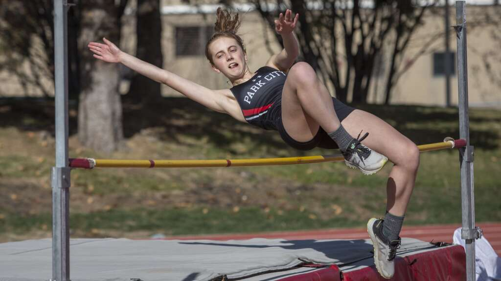 Park City's Elle Donovan competes in the high jump, clearing 4'. Donovan placed eighth overall among the girls. (Tanzi Propst/Park Record)