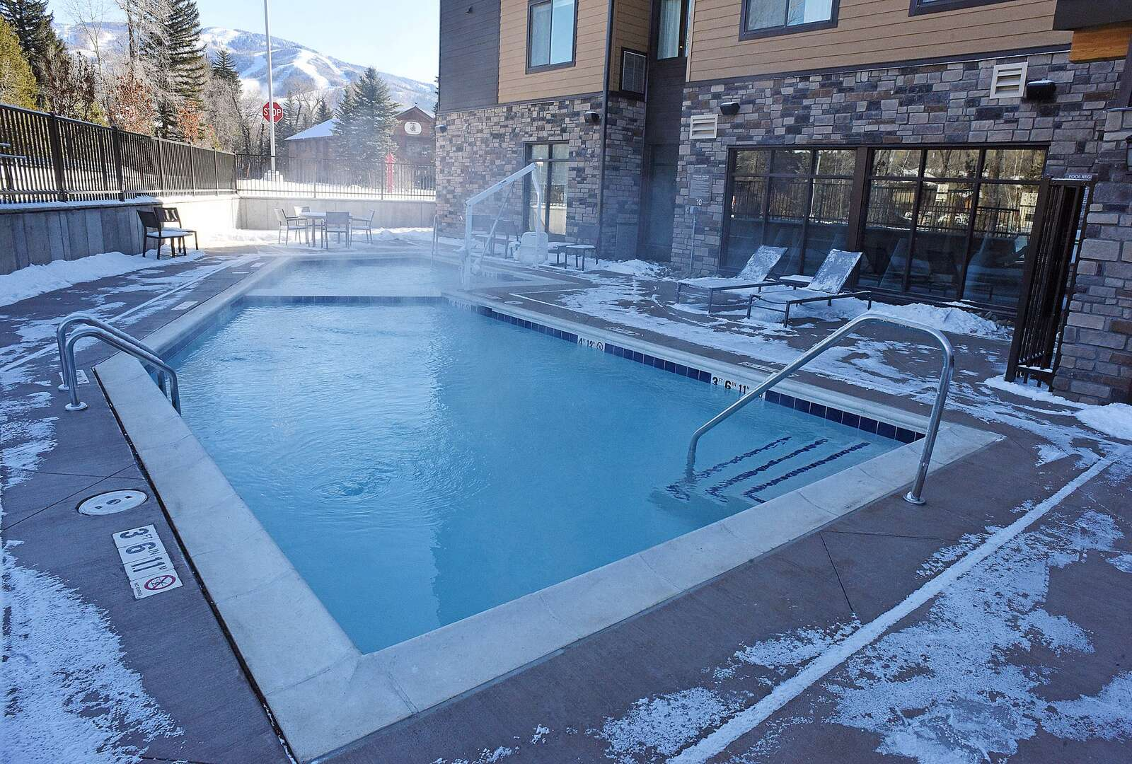 The new Residence Inn by Marriott will offer guest an outdoor heated pool and spa. (Photo by John F. Russell)